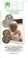 VATICANO - 2015  Bollettino Ufficiale UFN Anno Santo Misericordia Monete E Volume Filatelico (Papa FRANCESCO) - Popes