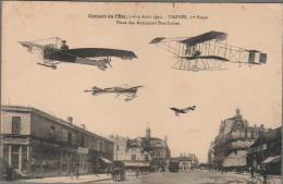 CPA Aviation  TROYES Place Des Anciennes Boucheries- Circuit De L´Est 1910 - Troyes