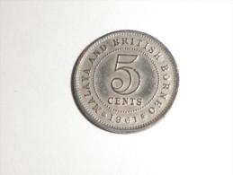 MALAYSIE BRITISH BORNEO 5 Cent S 1961  ELISABETH II   Cup.ni - Malesia