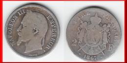 **** 2 FRANCS 1867 A PARIS - NAPOLEON III TETE LAUREE - ARGENT **** EN ACHAT IMMEDIAT !!! - France