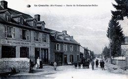 87. HAUTE-VIENNE - LA CROISILLE / BRIANCE. Route De St-Germain Les Belles. Boulangerie Maumont, Hôtel-café. BPlan. - Other Municipalities