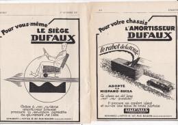 Pub.1927 Dufaux L'Amortisseur  Dufaux Le Siège  Lot De 2 Pages  TBE - Publicidad