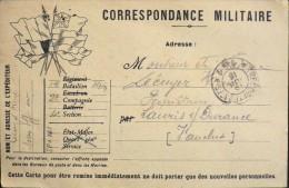 Carte Postale - Correspondance Militaire - Trésor Et Postes 161 - Datée 13.07.1916  - Bon Etat - - Postmark Collection (Covers)