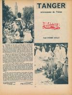 1954 : Document, TANGER (3 Pages Illustrées) Marché, Mosquée Bouarrakia, Palais Du Sultan, Avenue D´Espagne, Tangéroise - Non Classificati