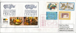 NDONESIE. EXPO  MILANO 2015. Belle Lettre Du Pavillon Indonésien, Rhinocéros De Java, Adressée En ANDORRE - Indonésie