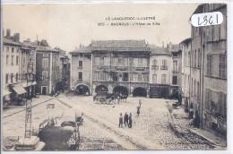 BAGNOLS- L HOTEL DE VILLE- ANIMEE- COMMERCES - Bagnols-sur-Cèze