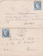 707 -   LSC  CERES 60   Deux Lettres Classiques - Postmark Collection (Covers)