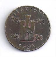 GRANDE  BRETAGNE - Half Penny  De STAFFORD  1797 - Grande-Bretagne