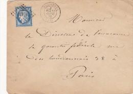 709 -   LSC  CERES 60 -   15.1.1876  De  COMPIEGNE  à  PARIS - Postmark Collection (Covers)