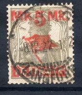 DANZIG 1920 (1 Nov.) 5 Mk Surcharge, Lilac Burelage Downwards, Postally Used, Expertised.  Michel 45II - Danzig