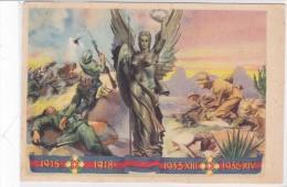 CARD ARMA DI FANTERIA  SPEDITA DA GRANATIERE P.M.67(SCRITTO A MANO) A DUEVILLE (VI) 2 SCANNER-FG-V-2-  0882-24789-790 - War 1939-45