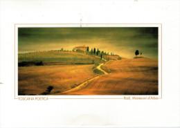 TOSCANA POETICA   RADI, MONTERONI D'ARBIA   MAXI-CARD     (VIAGGIATA) - Italia