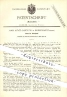 Original Patent - James A. Lamplugh , Birmingham , England , 1885 , Sattel Für Velocipede , Velociped , Fahrrad , Rad !! - Historische Dokumente