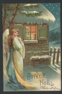 CPA - Fantaisie - Voeux - JOYEUX NOEL - Femme - Ange - Girl - Angel - Christmas  // - Non Classés