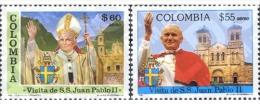 Ref. 178522 * MNH * - COLOMBIA. 1986. VISIT OF JOHN PAUL II . VISITA DE JUAN PABLO II - Colombia