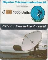 NIGERIA - Earth Station, Nigerian Telecom Plc First Issue 1000 Units(3NAIFIF), Chip Sie 35, Used - Nigeria