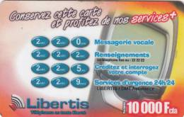 GABON - Libertis Recharge Card 10000 Fcfa, Exp.date 30/06/02, Used