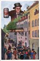 SALZBURG - Stieglkeller, Stieglbier Werbekarte 1936 - Salzburg Stadt