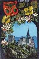 RAROGNE RARON - Les Districts Du Valais, Gel.1923, 2 Marken - VS Valais