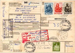 SWITZERLAND / SUISSE 1972 - Bulletin D'expédition 541 By Air Mail To Porto Alegre, RG,  Brazil - Covers & Documents