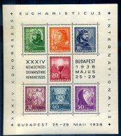 HONGRIE 1938 BLOC N°2 (trace De Pli Sur Le Côté/ Timbre Luxe) - Blocs-feuillets
