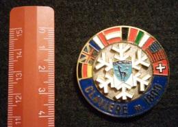 """04581 """"SCUOLA SCI CLAVIERE M. 1800 - DISTINTIVO METALL. SMALTI POLICROMI - DIAM. 41 MM"""" BADGE. ORIGINALE. - Sport Invernali"""