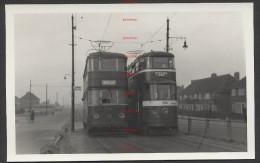 RK1175 Leeds City Trams 550 & 263 At Belle Isle 1952? - Trains