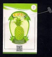 # PINEAPPLE SWITI 7 Type 2 Back Side Modified Fruit Tag Balise Etiqueta Anhanger Ananas Pina Costa Rica - Fruits & Vegetables