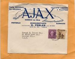 Havana Old Cover Mailed To USA - Brieven En Documenten