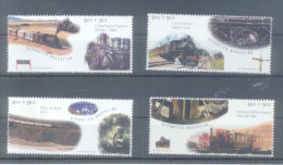 AÑO 1997 ARGENTINE ARGENTINA  TRENES TRAINS SERIE COMPLETA COMPLETE SET JALIL NRS. 2841-44 MNH TBE - Unused Stamps
