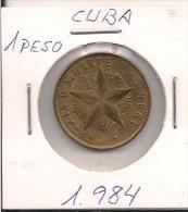 MONEDA CUBA 1 PESO 1984 - Monnaies & Billets