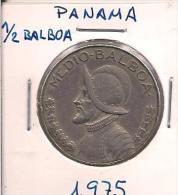 MONEDA PANAMA 1/2 BALBOA 1975 - Monnaies & Billets