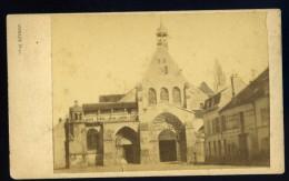 Photo Cdv Albuminée Circa 1880 -- église De Saint Ayoul -- Photographe Moraux Provins     NOV15 24 - Photographs