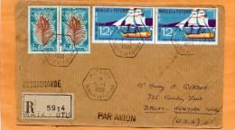 Wallis And Futuna 1968 Registered Cover Mailed To USA - Wallis Und Futuna