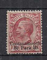 LEVANTE COSTANTINOPOLI  1909-11   SOPRASTAMPATI D'ITALIA  SASS.21  MNH   VF - 11. Uffici Postali All'estero