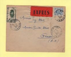 Tunis - Expres Destination France - 1952 - Tunisie (1956-...)