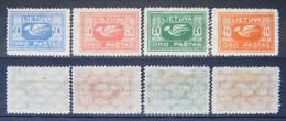 Litauen Flugpost 1921 Mi.Nr.102 - 105 * Ungebraucht        (M94) - Litauen