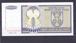 CROATIA Knin 1000000 Dinara 1993 XF++ Pick R10 - Kroatië