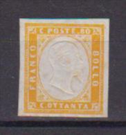 REGNO D'ITALIA   1861-63 REGNO DI SARDEGNA  EFFIGE V.EMANUELE  II   SASS. 17D MLH VF - Nuovi