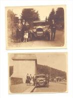 Automobile CHRISLER - Lot De 2 Petites Photos (+/- 5,5 X 8 Cm) +/-  1930 - Oldtimer - La Gileppe (b179) - Automobiles