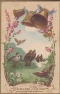 FETES---JOYEUSES PAQUES---cloches + Oiseaux---voir 2 Scans - Easter