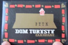HOTEL ORBIS PENSION MOTEL ROOM DOM TURYSTY ZAKOPANE POLSKA POLAND TAG LUGGAGE LABEL ETIQUETTE AUFKLEBER DECAL STICKER - Hotel Labels