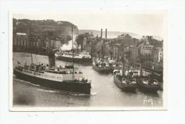 Cp , 76 , DIEPPE , L'avant Port , Ed : Yvon N° 810 , écrite 1945 , Bateaux , Paquebots - Dieppe