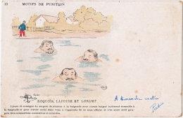 MOTIFS DE PUNITIONS. Roquois, Lapoire Et Lorijet. 13 - Militaria