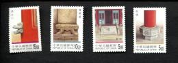 Taiwan Formosa  POSTFRIS MINT NEVER HINGED POSTFRISCH EINWANDFREI Yvert 2396 2397 2398 2399 Architectuur - 1945-... République De Chine