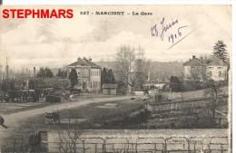 CPA 71 : N°857 - MARCIGNY Juin 1916 - LA GARE - édition BERARD - Unclassified