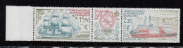 FRENCH ANTARCTIC TERRITORY /TAAF -  1990 -SHIPS TRYPTICH   MINT NEVER HINGED, SG CAT £10+ - Tierras Australes Y Antárticas Francesas (TAAF)
