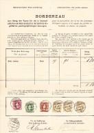 Heimat BE RECONVILLIER 31.10.1900 MIT 1Fr. 50 Und 30Rp Stehende 2Rp. WZ (3) Auf Taxen Bordereau - Lettres & Documents