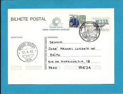 INTEIRO POSTAL - 17.04.1982 - 1.º ANIV. FN - EXPOFIL - LISBOA'82 - Postmark Stationery Card - Portugal - 2 Scans - Enteros Postales