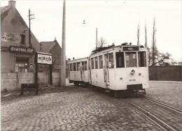 MOL: Station  Foto (cliché J. Bazin - 16/3/1955);   Met TRAM - Mol
